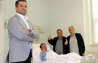 Türkiyede ilk robotlu sırttan böbrek ameliyatı