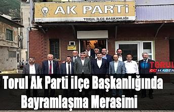 Torul Ak Parti ilçe Başkanlığında Bayramlaşma Merasimi