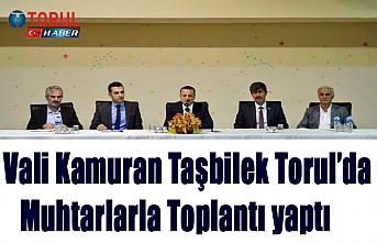 Vali Kamuran Taşbilek Torul'da Muhtarlarla Toplantı yaptı