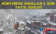 Yoğun kar yağişi nedeniyle kürtün'de okullar tatil edildi