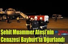 Şehit Muammer Ateşi'nin Cenazesi Bayburt'ta Uğurlandı