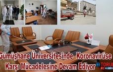 Gümüşhane Üniversitesinde  Koronavirüse Karşı Mücadelesine Devam Ediyor
