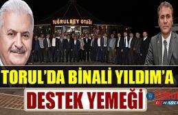 Torul'da Binali Yıldım için Toplandılar