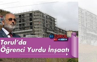 Torul'da Öğrenci Yurdu İnşaatı