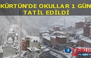 Yoğun kar yağişi nedeniyle kürtün'de okullar...