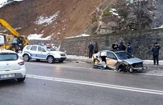 Gizli buzlanma sonucu zincirleme trafik kazası meydana...