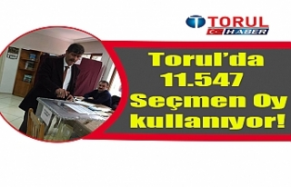 Torul'da 11.547 Seçmen Oy kullanıyor!