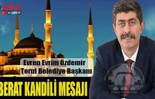 Başkan Özdemir'de Berat Kandili Mesajı