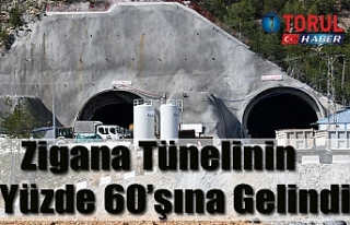 Zigana Tünelinin Yüzde 60'şı Bitti