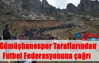 Gümüşhanespor Taraflarından Futbol Federasyonuna...