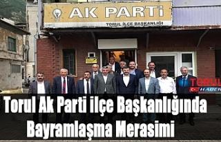 Torul Ak Parti ilçe Başkanlığında Bayramlaşma...