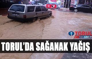 Torul'da Sağanak yağış