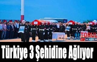 Türkiye 3 Şehidine Ağlıyor