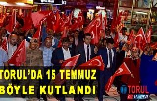 Torul'da 15 Temmuz Demokrasi ve Milli birlik günü...