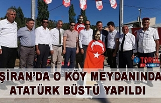 Şiran'da O Köy Meydanında Atatürk Büstü Yapıldı