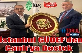 İstanbul GÜDEF'den Canlı'ya Destek