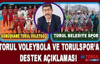 Torul voleybola ve Torulspor'a Destek Açıklaması