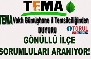 Gümüşhane'de Gönüllü TEMA vakfı ilçe Sorumlusu...