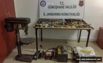Kürtün'de Kaçak Silah Atölyesine baskın