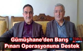 Gümüşhane'den Barış Pınarı Operasyonuna Destek