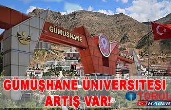 Gümüşhane Üniversitesi  Artış var!