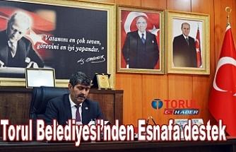 Torul Belediyesi'nden Esnafa destek