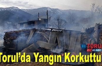 Torul'da Yangın Korkuttu