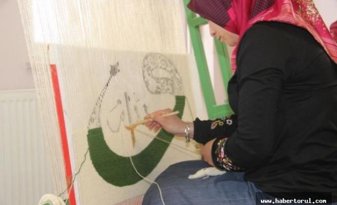 Şiran'da binlerce yıllık 'Ala Kilim' dokuma geleneği yaşatılıyor