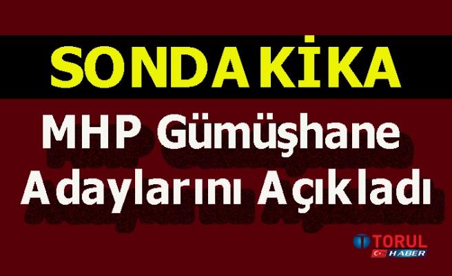 MHP Gümüşhane Adaylarını Açıkladı