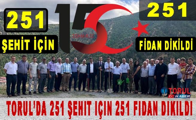 Torul'da 251 Şehit için 251 Fidan Dikildi