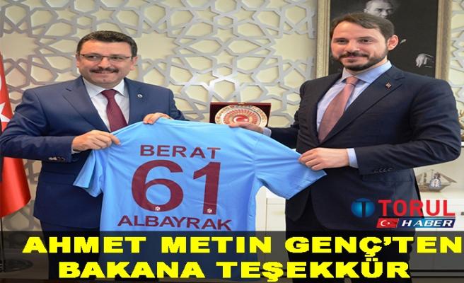 Ahmet Metin Genç'ten Bakana Teşekkür