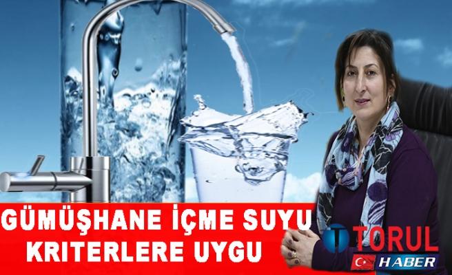 Gümüşhane İçme Suyu Kriterlere Uygu