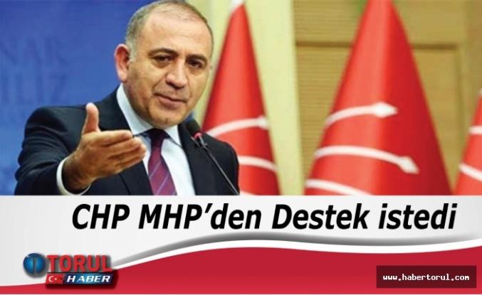 CHP MHP'den Destek istedi