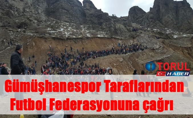 Gümüşhanespor Taraflarından Futbol Federasyonuna çağrı