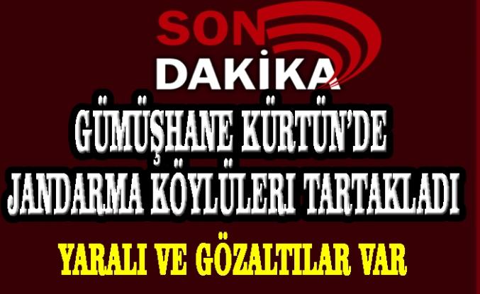 Gümüşhane Kürtün'de Jandarma Köylüleri Tartakladı