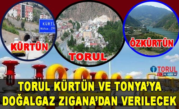 Torul Kürtün ve Tonya'ya Doğalgaz Zigana'dan verilecek