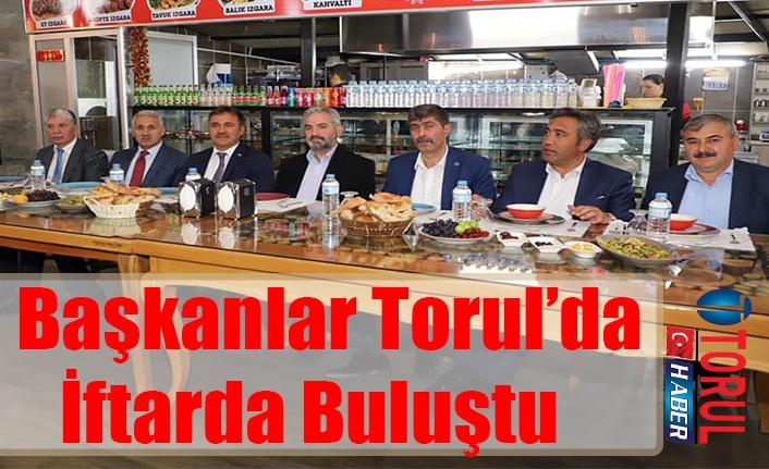 Başkanlar Torul'da İftarda Buluştu