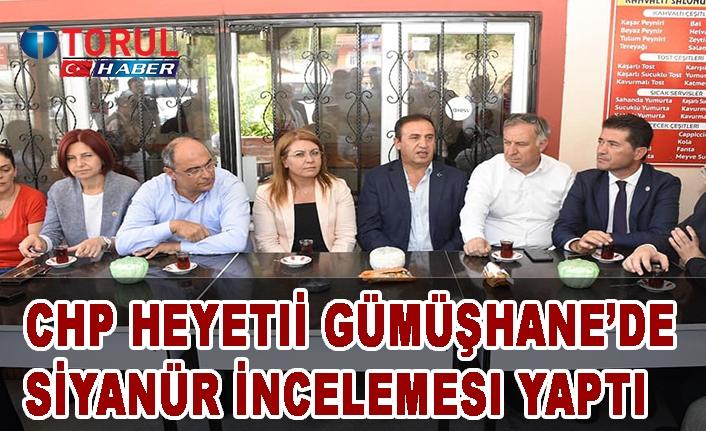 CHP Gümüşhane'de Siyanür sorununu TBMM'nin Gündemine taşıyor!