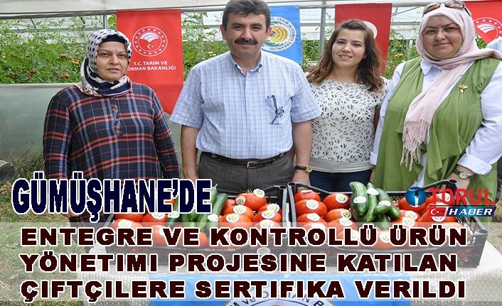 Entegre ve Kontrollü Ürün Yönetimi Projesine Katılan Çiftçilere Sertifika Verildi
